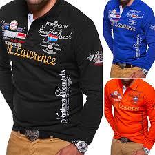 <b>ZOGAA</b> Brand <b>New Polo</b> Shirt <b>Men</b> Long Sleeve Cotton Polyester ...