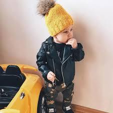 Spring/<b>Autumn</b> Boys <b>PU Leather</b> Motorcycle Jacket » Blu Bambina