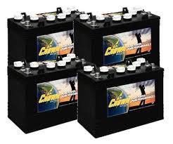 <b>Crown Battery</b> CR-GC150 <b>12V</b> 150Ah Golf Cart Batteries (4 Pack, 48V)