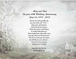 40th Wedding Anniversary Poem Gift for Mom Dad Anyone | eBay
