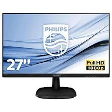 Philips 273V7QJAB 27-Inch <b>IPS Full HD</b> Monitor with Speakers - Black