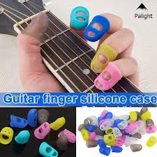 PA <b>5</b> Sizes 4/8/12 <b>pcs Guitar</b> Fingertip Thumb Protectors <b>Silicone</b> ...