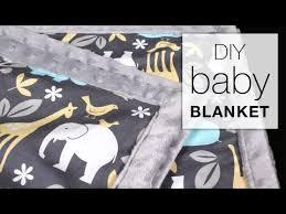 Easy DIY <b>Baby</b> Blanket Sewing Tutorial - YouTube