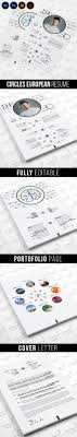 creative cv resume templates cover letter portfolio circles european resume template