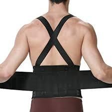 <b>Lumbar Support Belt</b> with Suspenders for Men - <b>Adjustable</b> & Light