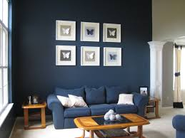 living room dark blue walls charming cool office design 2