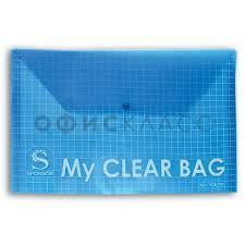"<b>Папка</b>-<b>конверт</b> на <b>кнопке</b> А4 Sponsor ""<b>My</b> clear bag"", прозрачная ..."