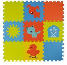 <b>Игровой коврик Forest пазл</b> Funny Farm 9 деталей 30х30х1,5 см ...