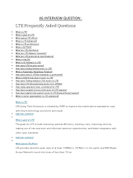 lte interview question lte telecommunication lte advanced