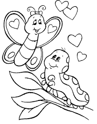 Small Picture Caterpillar coloring pages on leaf ColoringStar