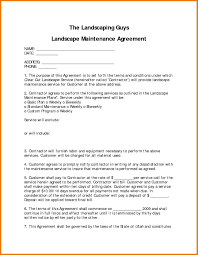maintenance agreement template microsoft word templates 5 landscaping contract template assistant cover letter