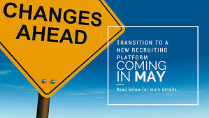 important information about the career center connector changes an image of a sign that says changes ahead includes text about the