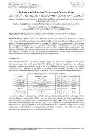 An <b>Indoor Multi</b>-<b>Function</b> Environment <b>Detector</b> Model | Scientific.Net