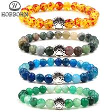 <b>HOBBORN Trendy</b> Natural Stone Beaded <b>Women</b> Bracelet ...