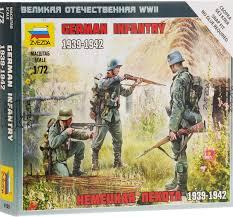 <b>Звезда Сборная модель Немецкая</b> пехота 1939-1942 — купить в ...