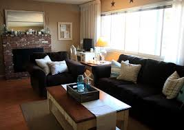 living roomcozy black living room furniture with brick accent wall fireplace black velvet sofa brick living room furniture