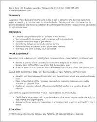 resume templates phone sales cell phone sales resume