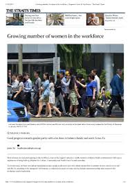 the straits times growing number of women in the workforce