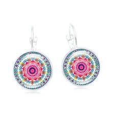XUSHUI <b>XJ</b> Vintage Silver Color Jewelry Mandala Women Earrings ...