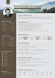 professional modern resume cv portfolio page cover professional modern resume cv template