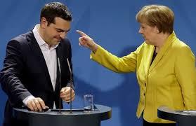 Risultati immagini per merkel contro tsipras