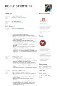 social work resume samples   visualcv resume samples databasedialysis social worker resume samples