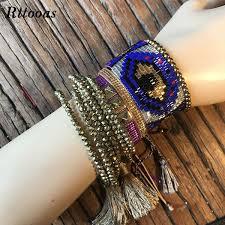 <b>Rttooas Lucky Width Handmade</b> Woven Evil Eye Bracelet Exquisite ...
