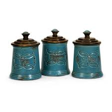 Green Kitchen Canister Set Teal Kitchen Canister Sets Laptoptabletsus
