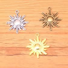 <b>12pcs</b> 28*25mm Tibetan Silver/Gold/Bronze Plated <b>sun</b> sunburst ...