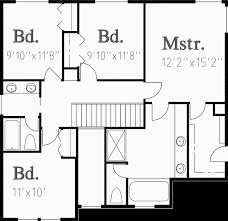 Traditional House Plans  Two Story House Plans  Bedroom HouseUpper Floor Plan for WD Traditional house plans  two story house plans  bedroom