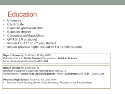format of a curriculum vitae for a student curriculum vitae  template college student png