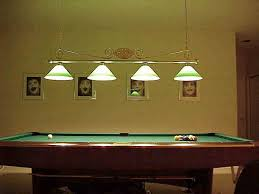 image of pool table light fixtures hanging billiard room lighting
