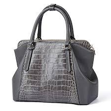 Grey <b>Women</b> Genuine <b>Leather</b> Designer <b>Handbags Luxury</b> ...