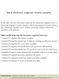 electronic engineer resume sample extended essay title page example thumbnail 4jpg cb 1428394611 top8electronicengineerresumesamples 150407031607 conversion gate01 thumbnail 4 top 8 electronic engineer resume samples
