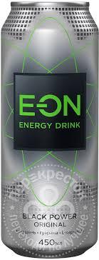 Купить <b>Напиток</b> E-ON <b>Black</b> Power Original <b>энергетический</b> 450мл ...