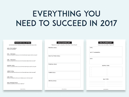 goal planning sheets sweet paper trail 2017 goal planning sheets