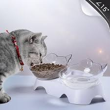 <b>Non</b>-<b>slip Double</b> Bowls <b>Cat Bowls</b> With Raised Stand Pet Food ...