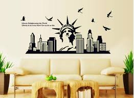 liberty bedroom wall mural: aliexpresscom buy fluorescent black liberty statue wall stickers decals united states vinyl poster mural home living room school classroom decor from