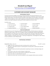 Resume Elizabeth San Miguel Customer Care