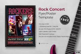 bies rock concert flyer tds psd flyer templates rock concert flyer template