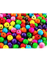 BcPowr 500 <b>PCS</b> Assorted Color Round Wood Beads,<b>Large Hole</b> ...