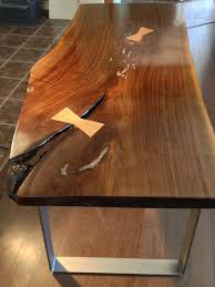 walnut dining table black