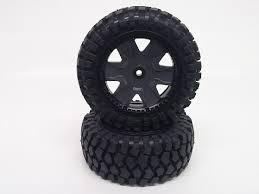 K-Rock Tires w/ <b>Front</b> Yuma Beadlock Rims (Gun Metal/<b>Black</b>) (<b>1 Pair</b>)
