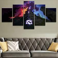 Modern <b>Canvas Home Wall Art</b> Decor Framework 5 Pieces DotA ...