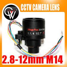 "3MP HD Motorized Zoom 1/2.7"" 2.8 <b>12mm</b> Varifocal F1.4 D14 Mount ..."