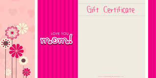 mother s day gift certificate templates mothers day gift certificate customize