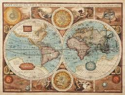 Vintage Medievil World Map 1626 CANVAS PRINT poster 24X 36 ...