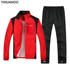 YIHUAHOO Tracksuit <b>Men 4XL</b> 5XL <b>Men's</b> Sportswear Spring ...
