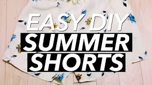 How to Make a <b>Pair</b> of <b>Summer</b> Shorts | WITHWENDY - YouTube