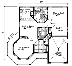 Simple One Story Living   PD   st Floor Master Suite  CAD    Floor Plan